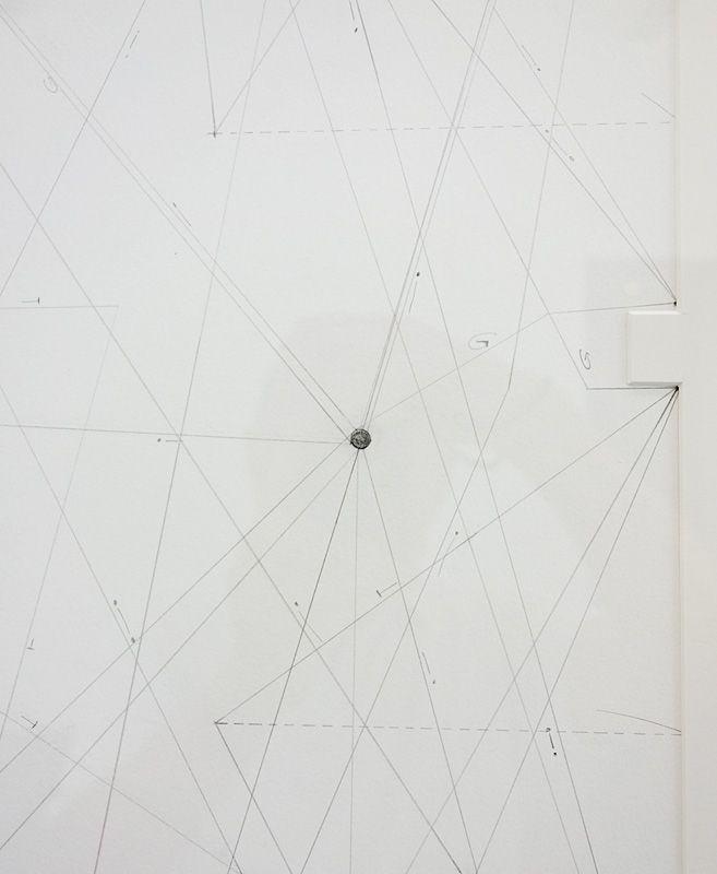 Jennifer Caubet, Partition pour Coordonnées en projection III (détail) - FRAC Occitanie Montpellier 2018