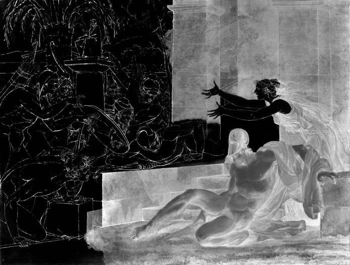 La Mort d'Alcibiade, série Les Clairs-Obscurs, 2017-2018, collection de l'artiste © Véronique Ellena, 2018