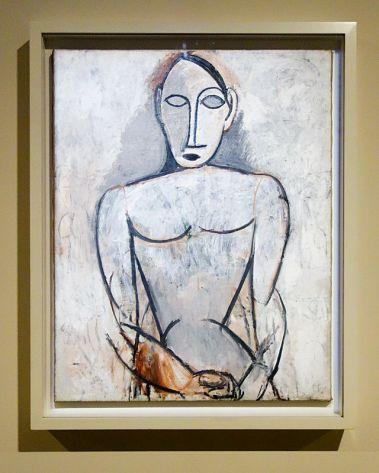 Pablo Picasso, Femme aux mains jointes (Étude pour Les Demoiselles d'Avignon), printemps 1907 - Picasso, voyages imaginaires à la Vieille Charité - Marseille - Afrique fantôme