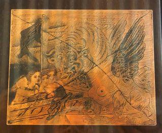 Pablo Picasso, Harpye à tête de taureau, décembre 1934 - palque de cuivre