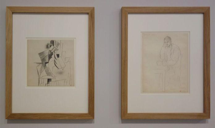 Pablo Picasso, Homme attablé, Avignon, été 1914 et Homme attablé, [1914-1915] - Picasso - Donner à voir au Musée Fabre