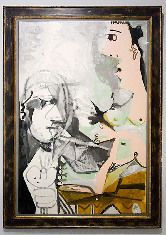 Pablo Picasso, Le Peintre et son modèle, 25 octobre 1964 - Picasso - Donner à voir au Musée Fabre