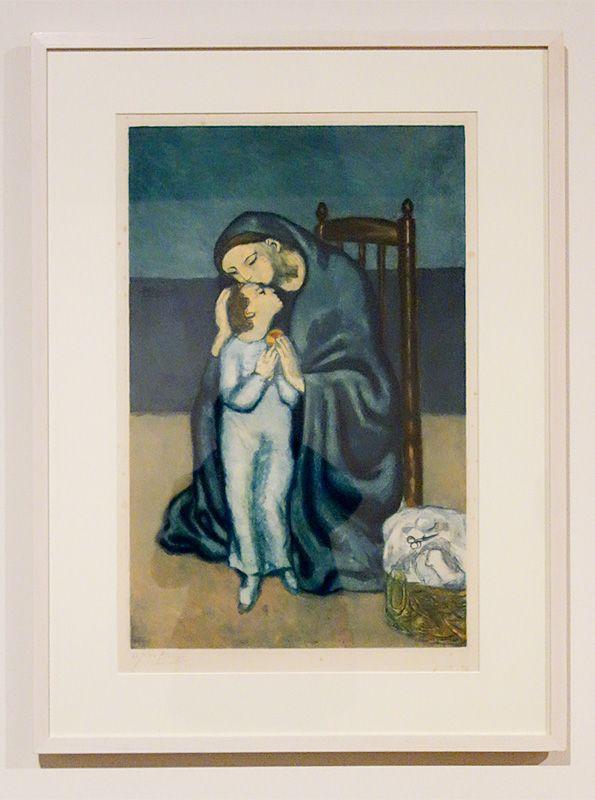 Pablo Picasso, Maternité, 1901 - Picasso, voyages imaginaires à la Vieille Charité - Marseille - Bohème Bleue
