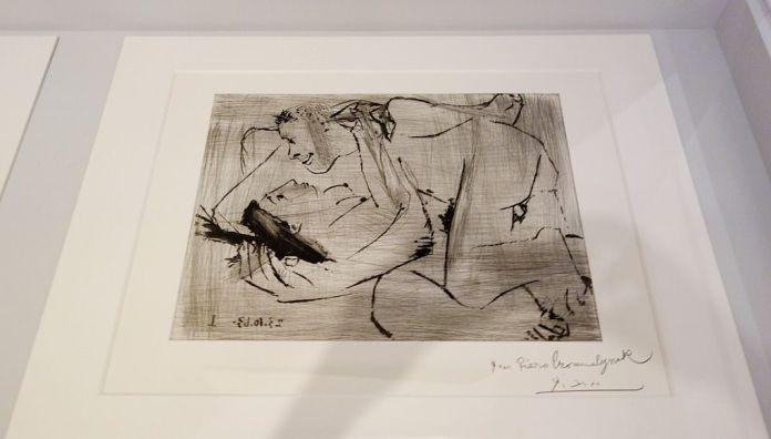 Pablo Picasso, Sans titre, IIIe état, 23 octobre 1963 - Picasso - Donner à voir au Musée Fabre