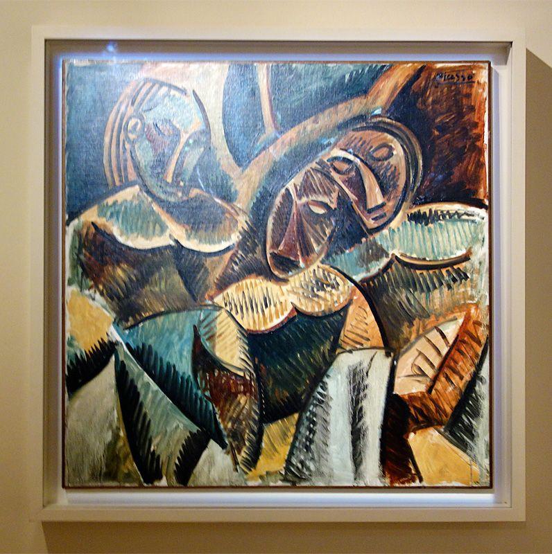 Pablo Picasso, Trois figures sous un arbre, hiver, 1907-1908 - Picasso, voyages imaginaires à la Vieille Charité - Marseille - Afrique fantôme