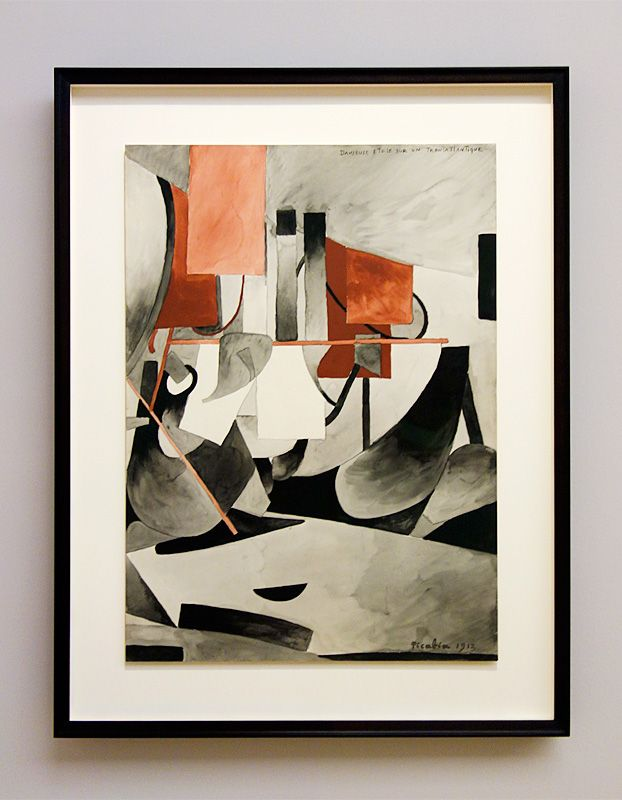 Picabia, Danseuse étoile sur un transatlantique, 1913 - Exposition Picasso Picabia – La Peinture au défi au musée Granet - Cubismes (1907-1915)