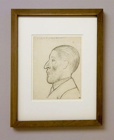 Picasso, Portrait de Jacques Doucet, 1915 - Exposition Picasso Picabia – La Peinture au défi au musée Granet - Classicisme et machinisme