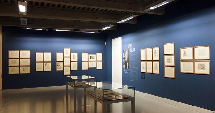 la Suite Vollard exposée dans la Salle des Modernes, au deuxième étage du musée Fabre
