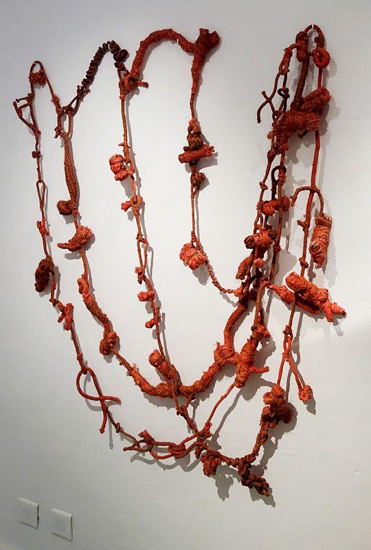 Christian Jaccard, Outillage Noeudtresses, 1971 - Exposition Tissage - Tressage à la Villa Datris - Folie du fil