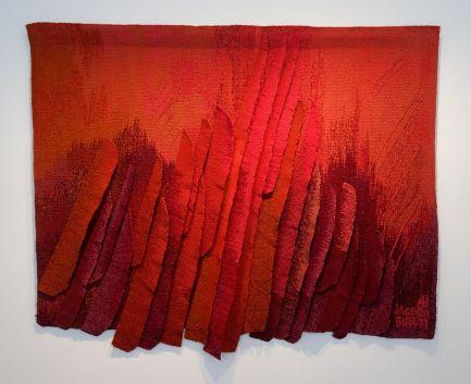 Jagoda Buic, oiseau de feu, 1977 - Exposition Tissage - Tressage à la Villa Datris - Fil organique