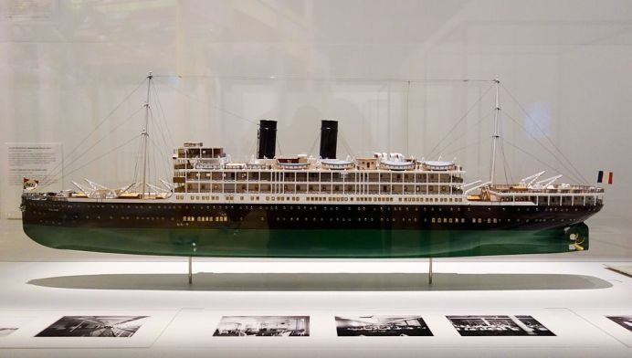 Maquette du bateau Paul Lecat – Exposition Fan-Tan au Mucem