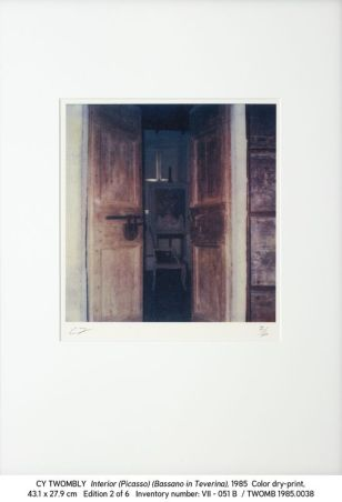 Cy Twombly, 1985.0038 Interior (Picasso) (Bassano in Teverina)
