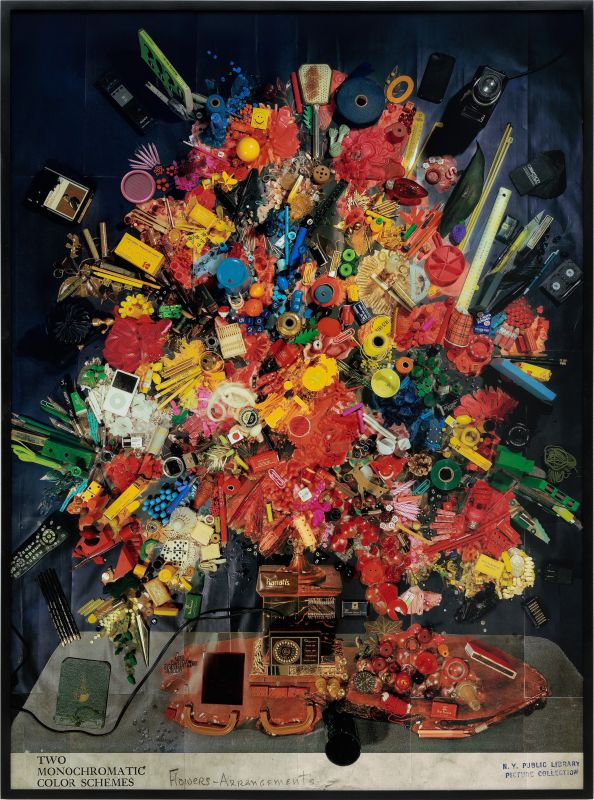 Sara Cwynar, Contemporary Floral Arrangement4 et 5, 2014. Épreuves chromogéniques sur Dibond, 152,4 × 111,76cm, Collection Privée, Bruxelles.