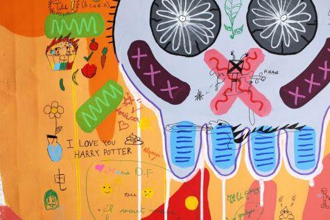 Yann Dumoget, Peintures partagées - Neuvième session de graffitage le 05 mai , parade Métèque, Parc de la Guirlande, Montpellier