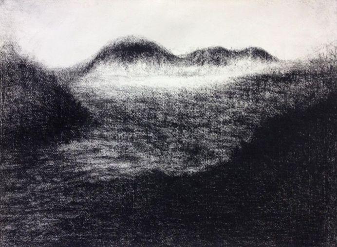 Odile Maarek, Sans titre, 2014, craies Comté sur papier Ingres, 59.5 x 74.5 cm