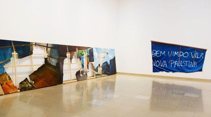 Khalil Rabah - Acampamento Vila Nova Palestina, 2017 et Bem Vimdo Vila Nova Palestina, 2017 - Exposition Ligne de fuite - Carré d'art - Nîmes