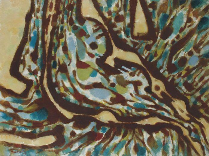 Alfred Manessier Fontaine-L'Evêque1959 Huile sur toile 97 x 130cm Coll. part., Suisse © ADAGP, Paris2018