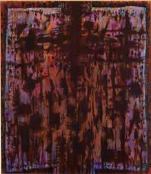 Alfred Manessier Passion selon saint Luc 1986 Peinture à l'huile sur toile 230 x 200cm Musée des beaux-arts de Sion, Suisse © ADAGP, Paris2018
