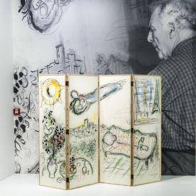Chagall - Du noir et blanc à la couleur à L'Hôtel de Caumont – Aix - Vue de l'exposition © Culturespaces S. Lloyd