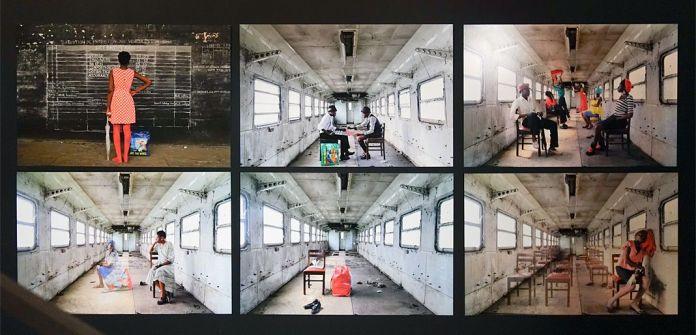 Gosette Lubondo (née en 1993 à Kinshasa ; vit et travaille à Kinshasa) Imaginary Trip # 1, 3, 7, 10, 14, 15 (2016) 6 tirages numériques Avec l'aimable autorisation de l'artiste