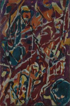 Jean Bazaine L'automne en Virginie1953 Huile sur toile 120 x 80cm Coll. part., Suisse © ADAGP, Paris2018