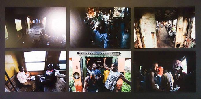 Junior D. Kannah (né en 1981 à Kinshasa ; vit et travaille à Kinshasa) Sans titres, Série Engunduka ya elili, le train de l'illusion (2014) 7 tirages numériques Avec l'aimable autorisation de l'artiste