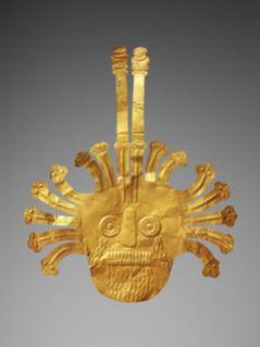 Masque funeraire, Culture Nazca, Perou, 200 av. J.-C. – 600 ap. J.-C. © Musee du quai Branly – Jacques Chirac, Dist. RMN-Grand Palais / Patrick Gries / Valerie Torre