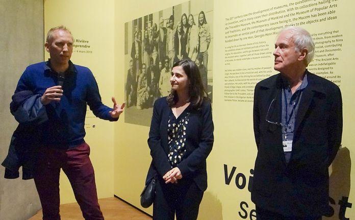Olivier Bedu (Struc Archi), scénographe - Marie-Charlotte Calafat et Germain Viatte, commissaires de «Georges Henri Rivière