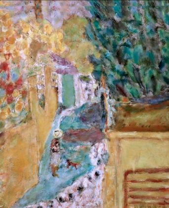 Pierre Bonnard L'Escalier du Cannet Huile sur panneau 41 x 33cm Coll. Fondation Jean et Suzanne Planque (en dépôt au Musée Granet, Aix-en-Provence)