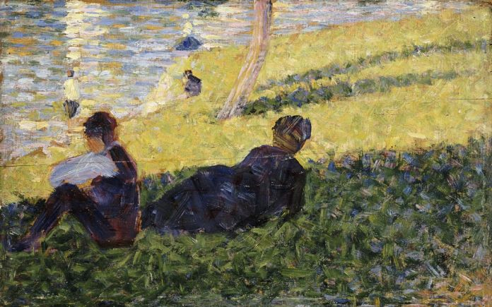 Seurat - etude pour un dimanche apres midi 1884© RMN-Grand Palais (musee d'Orsay) / Herve Lewandowski