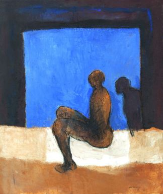 Sans titre. Technique mixte sur toile. 160 × 135 cm. Atelier de l'artiste © Atelier de l'artiste