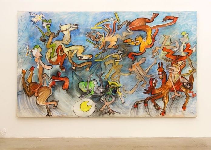 Matta, El ya olvidado ejercicio de la caballeria aventura, 1985 - Une histoire de la collection du Fonds régional d'art contemporain - Vue de l'exposition au FRA PACA