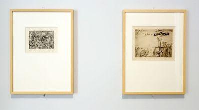 James Ensor, Démons me turlupinant, 1895 et Le Christ agonisant, 1895 - James Ensor et Alexander Kluge - Siècles noirs à la Fondation Van Gogh Arles