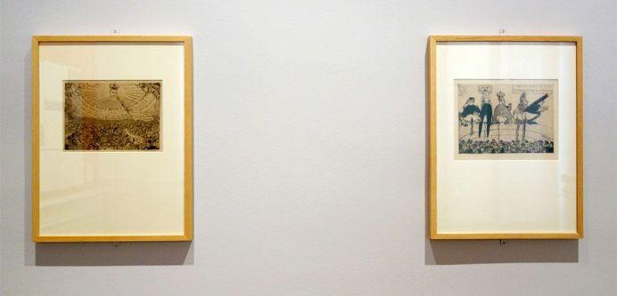James Ensor, La Belgique au XIX siècle, 1889 et Alimentation doctrinaire, 1889 - James Ensor et Alexander Kluge - Siècles noirs à la Fondation Van Gogh Arles