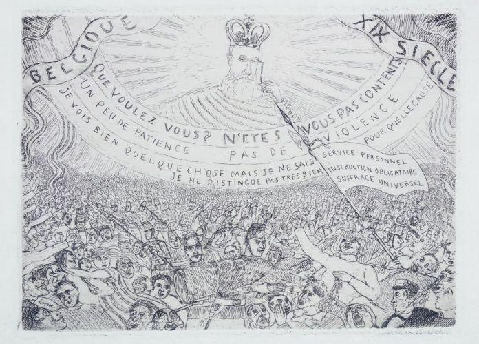 James Ensor-La Belgique au XIXe siècle-1889