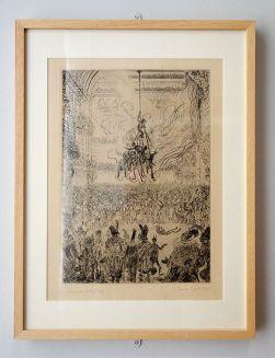 James Ensor, La vengeance de Hop-Frog, 1898 - James Ensor et Alexander Kluge - Siècles noirs à la Fondation Van Gogh Arles
