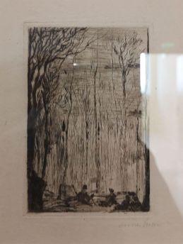 James Ensor, Sous bois à Groenendael, 1888 - James Ensor et Alexander Kluge - Siècles noirs à la Fondation Van Gogh Arles