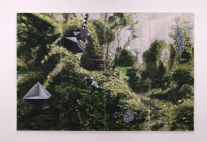 Nicolas Pincemin,Canopée, 2018 d'après un protocole d'Ariane Plante - Extension de la pratique des idées à la Friche la Belle de Mai, Marseille