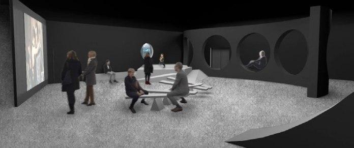 On danse - Projet Scénographie - Esquisse du début de l'exposition—Vue 3D © ceciledegos.com