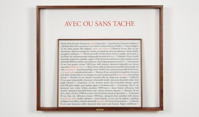 Sophie Calle - Cinq - Le chasseur francais à l'espère et Liberte surveillee - Photo Courtesy Galerie Perrotin