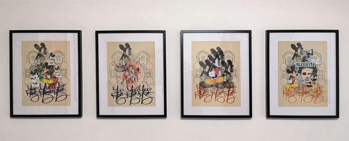 Denis Brun - Black Angy Mouse - Nowhere à la Numéro 5 Galerie - Montpellier