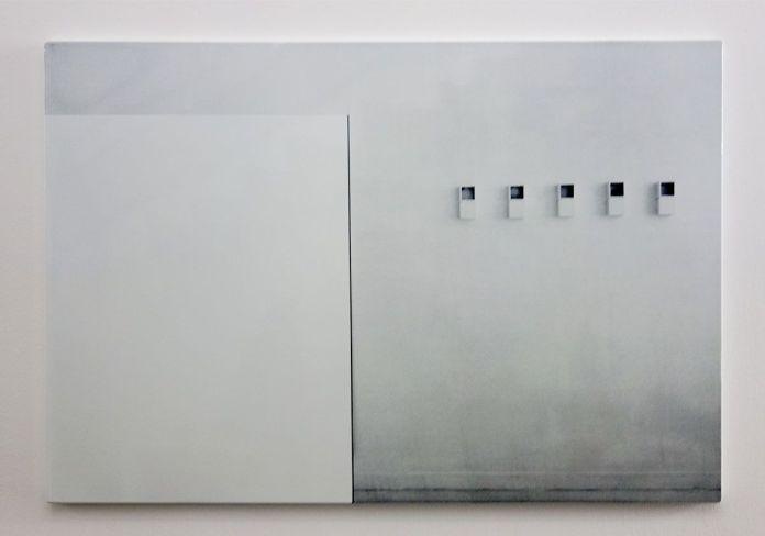 Laura Lamiel - Sans titre, 2000. Acier sérigraphié émaillé – 90 × 133 × 2,5 cm