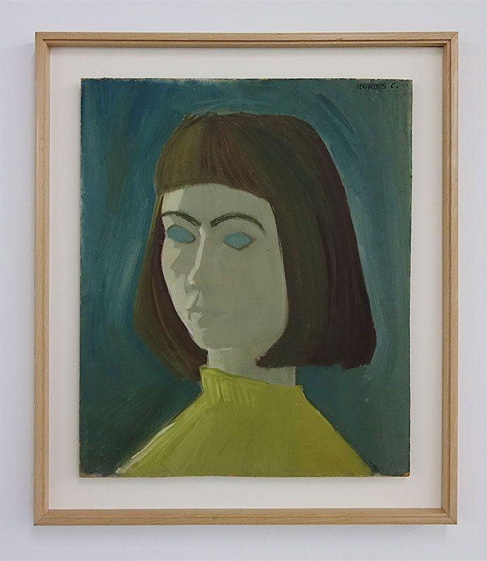 Lourdes Castro - Autoportrait, 1954 - Ombres et compagnie au MRAC à Sérignan