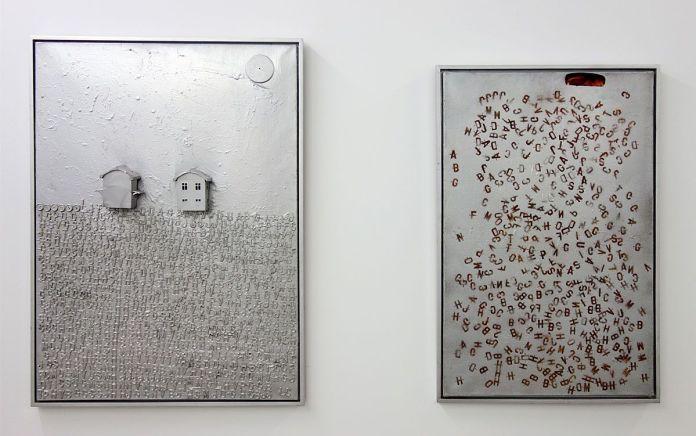 Lourdes Castro - Lettres et deux maison et Lettres et Paigne, 1962 - Ombres et compagnie au MRAC à Sérignan