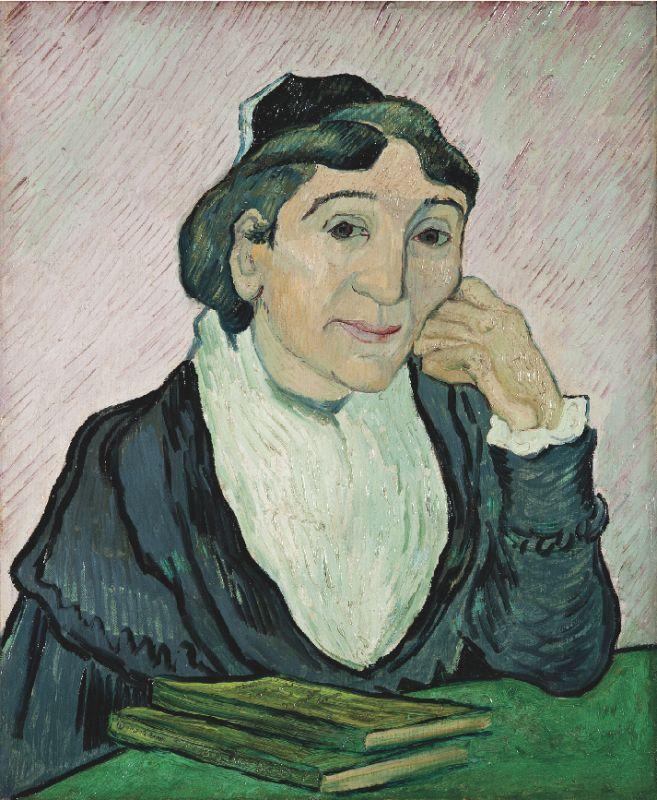 Vincent van Gogh, L'Arlésienne (Madame Ginoux), Saint-Rémy-de-Provence, février 1890. Huile sur toile, 60 × 50 cm. Galleria nazionale d'Arte moderna e contemporanea, Rome