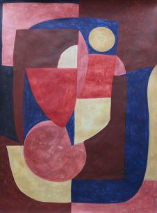 Caroline Denervaud - Jeu d'Eau, 2019 Caséine sur papier 220 g 77 x 108 cm
