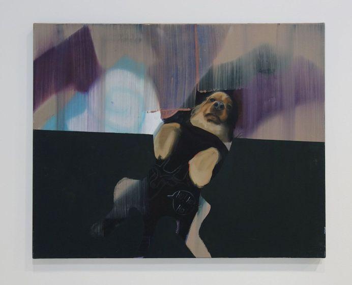 Caroline Vicquenault - Sans titre, 2017, huile sur toile, 50 x 70 cm. Sud magnétique - Vidéochroniques. Photo En revenant de l'expo !