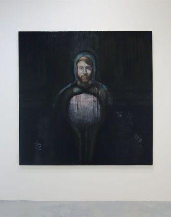 Caroline Vicquenault - Sans titre, 2019, huile sur toile, 200 x 200 cm. Sud magnétique - Vidéochroniques. Photo En revenant de l'expo !