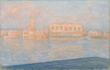 Claude Monet (1834-1917), Le Palais ducal vu de Saint-Georges-Majeur, 1908, huile sur toile, 65,4 x 100,6 cm Solomon R. Guggenheim Museum, New York, Thannhauser Collection, legs Hilde Thannhauser, 91.3910