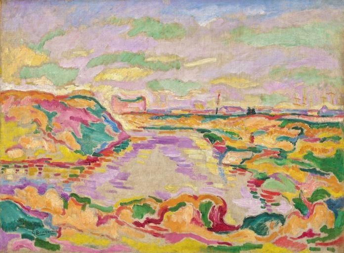 Georges Braque (1882-1963), Paysage près d'Anvers, 1906, huile sur toile, 60,3 x 81,3 cm Solomon R. Guggenheim Museum, New York, Thannhauser Collection, don Justin K. Thannhauser, 78.2514.1 © Adagp, Paris, 2019